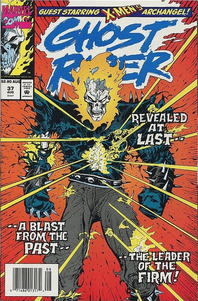 Cover for Ghost Rider (Marvel, 1990 series) #37 [Direct Edition]