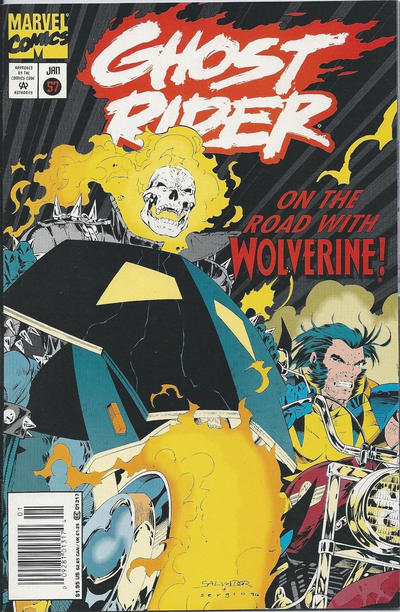Cover for Ghost Rider (Marvel, 1990 series) #57 [Direct Edition]