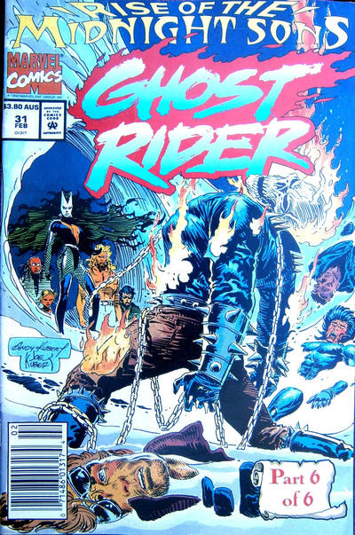 Cover for Ghost Rider (Marvel, 1990 series) #31 [Direct Edition]