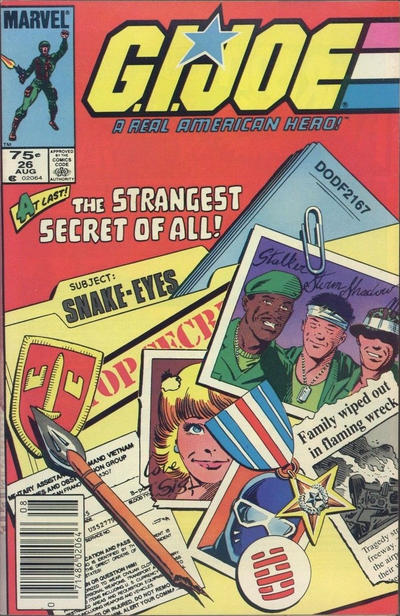 Cover for G.I. Joe, A Real American Hero (Marvel, 1982 series) #26 [Second Print]