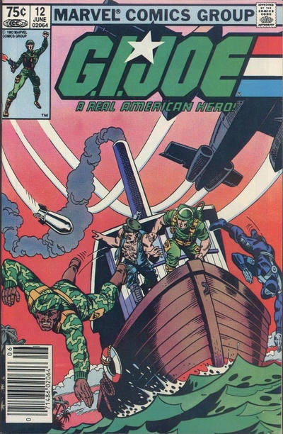 Cover for G.I. Joe, A Real American Hero (Marvel, 1982 series) #12 [Newsstand Edition]