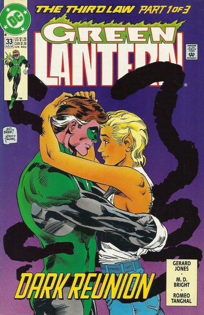 Cover for Green Lantern (DC, 1990 series) #33 [Direct Sales]