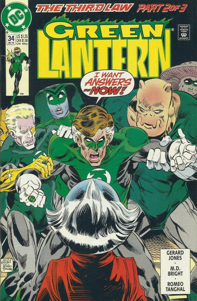 Cover for Green Lantern (DC, 1990 series) #34 [Newsstand]