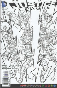 Cover Thumbnail for Justice League (DC, 2011 series) #48 [Adult Coloring Book Variant]