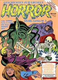 Cover Thumbnail for Horror (Condor, 1989 series) #5