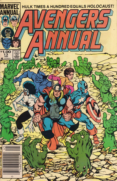 Cover for The Avengers Annual (Marvel, 1967 series) #13 [Direct Edition]