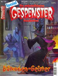 Cover Thumbnail for Gespenster Geschichten Spezial (Bastei Verlag, 1987 series) #173 - Dämonen-Geister