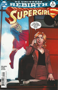Cover for Supergirl (DC, 2016 series) #5 [Bengal Cover]