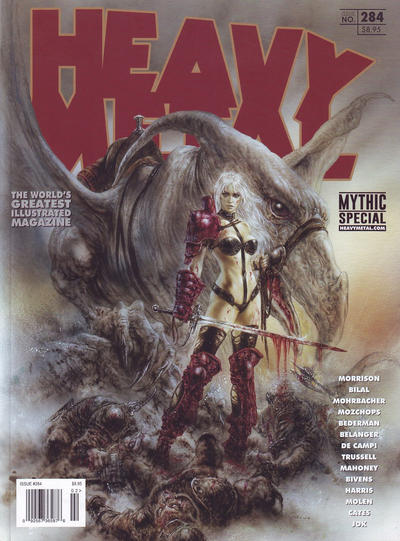 Cover for Heavy Metal Magazine (Heavy Metal, 1977 series) #284 - Mythic Special [Derek Riggs Comic Shops Cover]