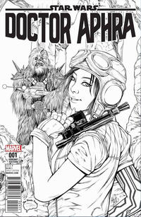 Cover Thumbnail for Doctor Aphra (Marvel, 2017 series) #1 [Brain Trust Exclusive Ashley Witter Black and White Variant]