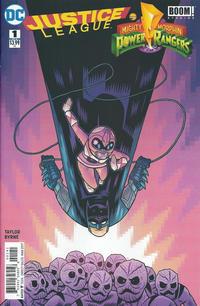 Cover Thumbnail for Justice League / Power Rangers (DC, 2017 series) #1 [Dan Hipp Batman and Pink Ranger Cover]