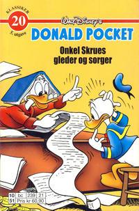 Cover Thumbnail for Donald Pocket (Hjemmet / Egmont, 1968 series) #20 - Onkel Skrues gleder og sorger [5. opplag]