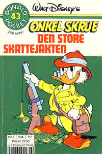 Cover Thumbnail for Donald Pocket (Hjemmet / Egmont, 1968 series) #43 - Onkel Skrue Den store skattejakten [2. utgave bc-F 384 27]