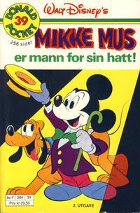 Cover Thumbnail for Donald Pocket (Hjemmet / Egmont, 1968 series) #39 - Mikke Mus er mann for sin hatt! [2. utgave bc-F 384 34]