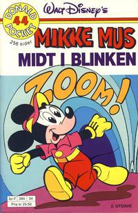 Cover Thumbnail for Donald Pocket (Hjemmet / Egmont, 1968 series) #44 - Mikke Mus Midt i blinken [2. utgave bc-F 384 34]