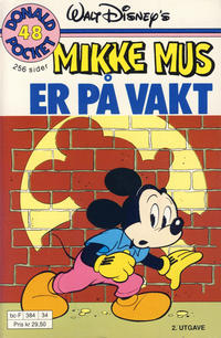 Cover Thumbnail for Donald Pocket (Hjemmet / Egmont, 1968 series) #48 - Mikke Mus er på vakt [2. utgave bc-F 384 34]