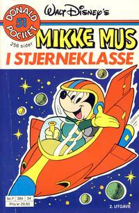 Cover Thumbnail for Donald Pocket (Hjemmet / Egmont, 1968 series) #51 - Mikke Mus i stjerneklasse [2. utgave bc-F 384 34]