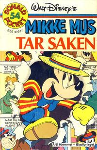 Cover Thumbnail for Donald Pocket (Hjemmet / Egmont, 1968 series) #54 - Mikke Mus tar saken [1. opplag]