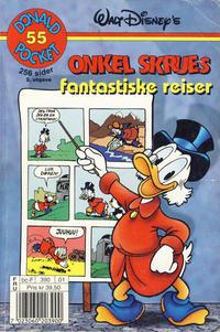 Cover Thumbnail for Donald Pocket (Hjemmet / Egmont, 1968 series) #55 - Onkel Skrues fantastiske reiser [2. utgave bc-F 390 01]