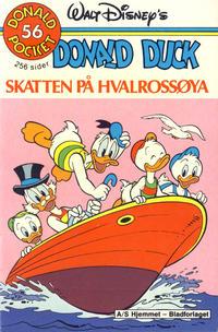 Cover Thumbnail for Donald Pocket (Hjemmet / Egmont, 1968 series) #56 - Donald Duck Skatten på Hvalrossøya [1. opplag]