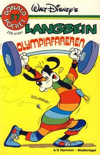 Cover Thumbnail for Donald Pocket (Hjemmet / Egmont, 1968 series) #57 - Langbein Olympiafareren [1. opplag]