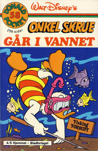 Cover Thumbnail for Donald Pocket (Hjemmet / Egmont, 1968 series) #58 - Onkel Skrue går i vannet [1. opplag]