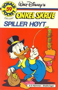 Cover Thumbnail for Donald Pocket (Hjemmet / Egmont, 1968 series) #59 - Onkel Skrue spiller høyt [1. opplag]