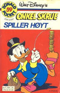 Cover Thumbnail for Donald Pocket (Hjemmet / Egmont, 1968 series) #59 - Onkel Skrue spiller høyt [2. utgave bc-F 384 35]