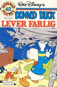 Cover Thumbnail for Donald Pocket (Hjemmet / Egmont, 1968 series) #62 - Donald Duck lever farlig [2. utgave bc-F 384 35]
