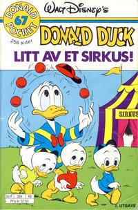 Cover Thumbnail for Donald Pocket (Hjemmet / Egmont, 1968 series) #67 - Donald Duck Litt av et sirkus! [2. utgave bc-F 384 49]