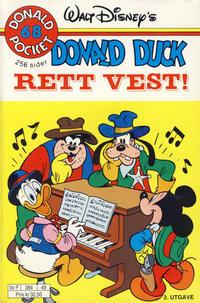 Cover Thumbnail for Donald Pocket (Hjemmet / Egmont, 1968 series) #68 - Donald Duck Rett vest! [2. utgave bc-F 384 49]