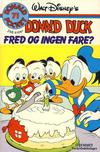Cover Thumbnail for Donald Pocket (Hjemmet / Egmont, 1968 series) #71 - Donald Duck Fred og ingen fare? [1. opplag]