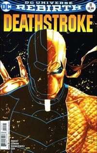 Cover Thumbnail for Deathstroke (DC, 2016 series) #11 [Shane Davis / Michelle Delecki Cover]