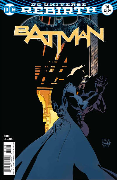 Cover for Batman (DC, 2016 series) #14 [Tim Sale Cover Variant]