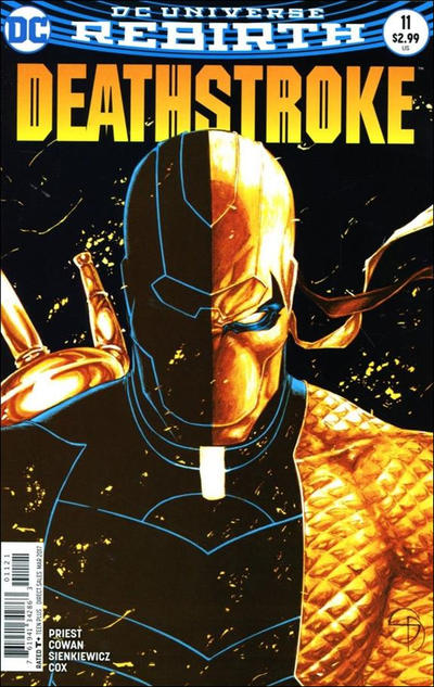 Cover for Deathstroke (DC, 2016 series) #11 [Denys Cowan / Bill Sienkiewicz Cover]