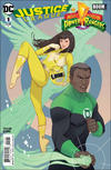 Cover Thumbnail for Justice League / Power Rangers (2017 series) #1 [Marguerite Sauvage Green Lantern and Yellow Ranger Cover]