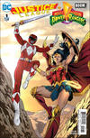 Cover Thumbnail for Justice League / Power Rangers (2017 series) #1 [Marcus To Wonder Woman and Red Ranger Cover]