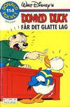 Cover Thumbnail for Donald Pocket (1968 series) #114 - Donald Duck får det glatte lag [Reutsendelse bc 384 34]
