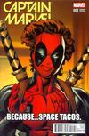 Cover Thumbnail for Captain Marvel (2016 series) #1 [Incentive Mark Bagley Deadpool Variant]
