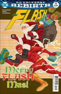 Cover Thumbnail for The Flash (DC, 2016 series) #13 [Dave Johnson Variant Cover]