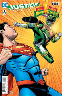 Cover Thumbnail for Justice League / Power Rangers (DC, 2017 series) #1 [Chris Sprouse / Karl Story Superman and Green Ranger Cover]