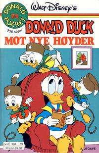 Cover Thumbnail for Donald Pocket (Hjemmet / Egmont, 1968 series) #74 - Donald Duck mot nye høyder [2. utgave bc-F 384 53]