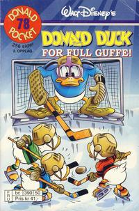 Cover Thumbnail for Donald Pocket (Hjemmet / Egmont, 1968 series) #78 - Donald Duck For full guffe! [2. opplag bc 390 50]