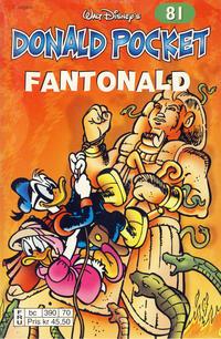 Cover Thumbnail for Donald Pocket (Hjemmet / Egmont, 1968 series) #81 - Fantonald [2. utgave bc 390 70]