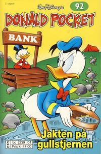 Cover Thumbnail for Donald Pocket (Hjemmet / Egmont, 1968 series) #92 - Jakten på gullstjernen [2. utgave bc 239 01]