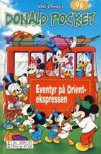 Cover Thumbnail for Donald Pocket (Hjemmet / Egmont, 1968 series) #96 - Eventyr på Orientekspressen [2. utgave bc 239 01]