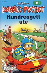 Cover Thumbnail for Donald Pocket (Hjemmet / Egmont, 1968 series) #101 - Hundreogett ute [2. utgave bc 239 02]
