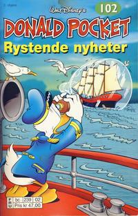 Cover Thumbnail for Donald Pocket (Hjemmet / Egmont, 1968 series) #102 - Rystende nyheter [2. utgave bc 239 02]