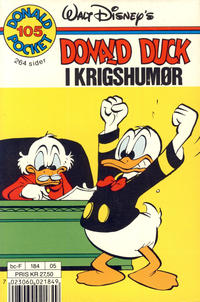 Cover Thumbnail for Donald Pocket (Hjemmet / Egmont, 1968 series) #105 - Donald Duck i krigshumør [1. opplag]