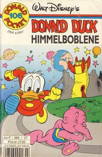 Cover Thumbnail for Donald Pocket (Hjemmet / Egmont, 1968 series) #106 - Donald Duck Himmelboblene [Reutsendelse bc 384 27]